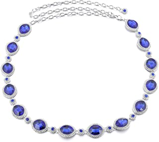Generic Women Ladies Bling Metal Chain Hip Waist Belt Rhinestone Circle For Party Dress Accessories