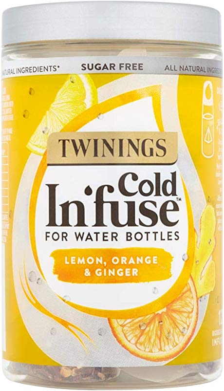 Twinings Cold In Fuse For Water Bottles Lemon Orange And Ginger Flavour 12 Infusers