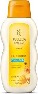 WELEDA Baby Calendula krem do kąpieli, pielęgnacyjny naturalny kosmetyk do pielęgnacji suchej i wrażliwej skóry dziecka, b...