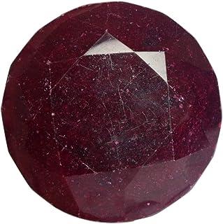 Real Gems Piedra de rubí Natural de Gran tamaño, Corte Redondo facetado de Color Rojo 1222 CT Piedra Preciosa de rubí cert...