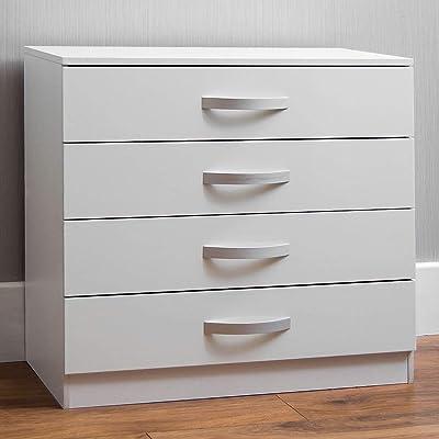Marque Amazon - Movian Hulio Commode haute brillance, Blanc, 72 x 75 x 36 cm