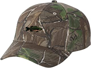 Smallmouth Bass Fish Custom Personalized Embroidery Embroidered Camouflage Hat