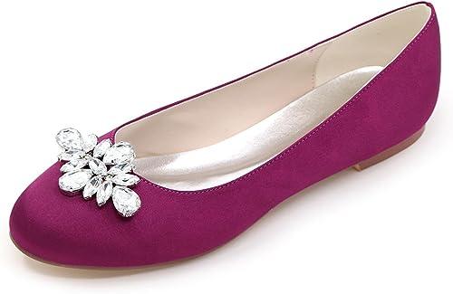 Elobaby zapatos De Boda De Las mujeres plataforma Nupcial del SatéN del TacóN Bajo Moda De Marfil Chunky (TacóN De 0.6cm)