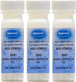Hyland's Nux Vomica, 30X, 250 Tablets (Pack of 3)