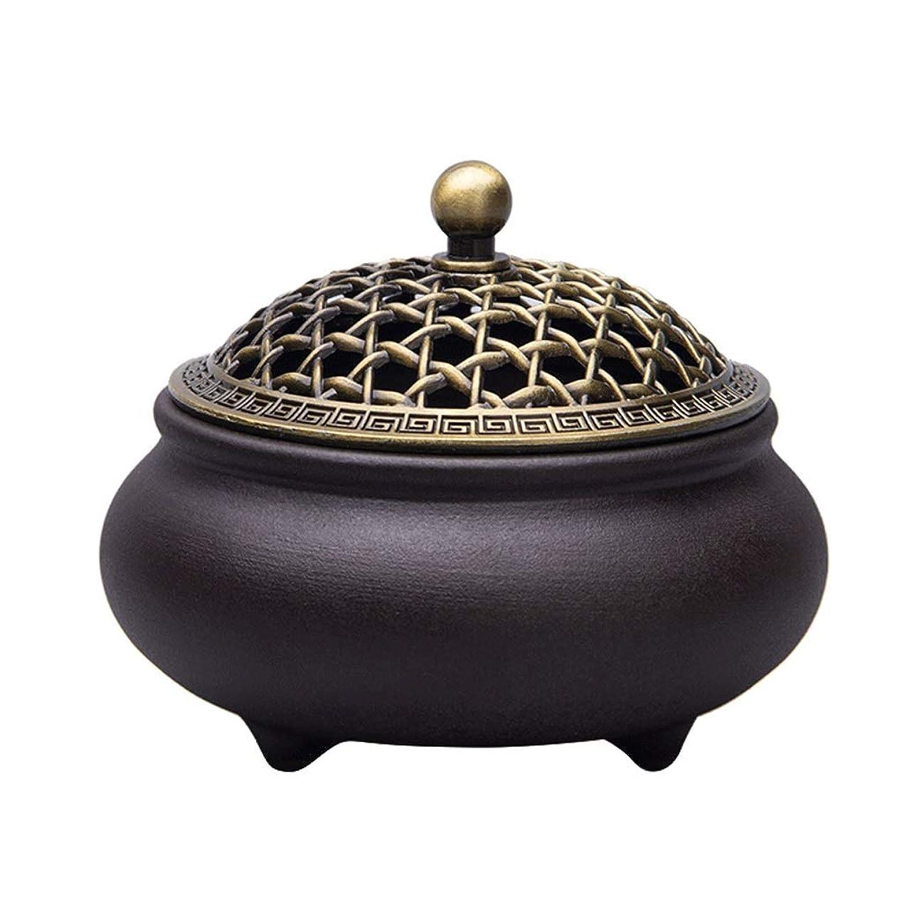 紫の推進、動かす湿地ホームアロマバーナー セラミック香炉3本足アロマテラピー炉ホームインテリア装飾品 芳香器アロマバーナー (Color : A)