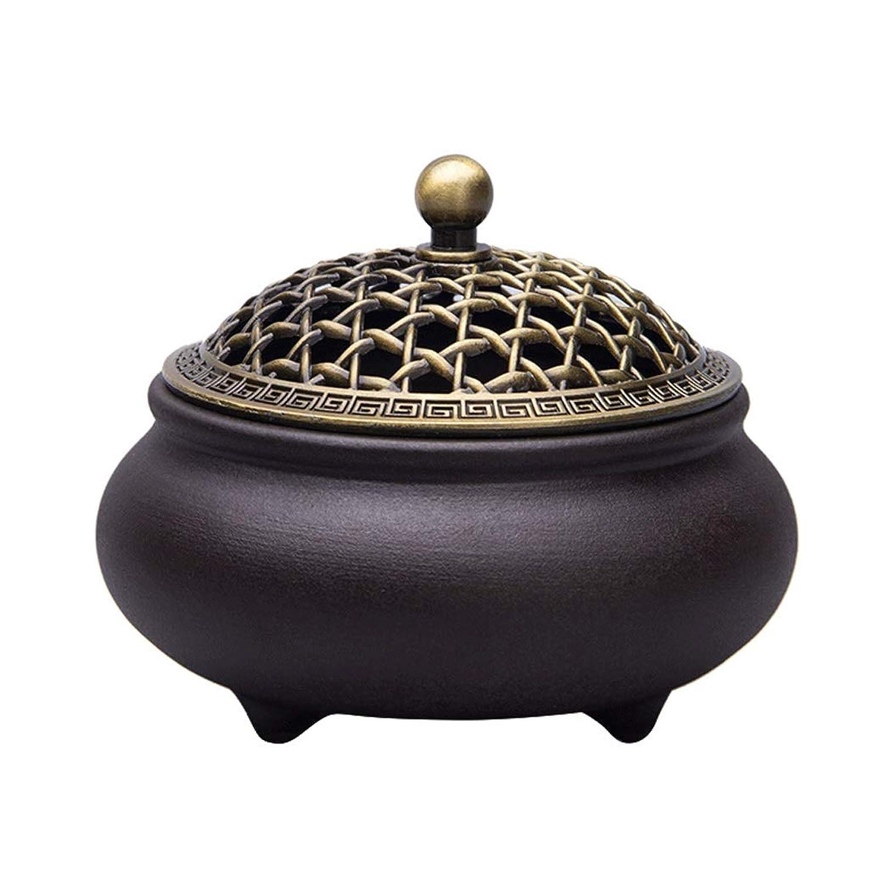 最小化するトラフニッケルホームアロマバーナー セラミック香炉3本足アロマテラピー炉ホームインテリア装飾品 芳香器アロマバーナー (Color : A)