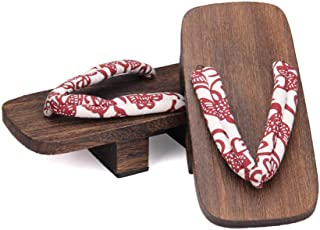YYTIANYY Flip flop Cosplay Geta Clogs Slippers Japanese Wooden Shoes Men Women Sandals-B_36 Wooden slippers (Color : M, Si...