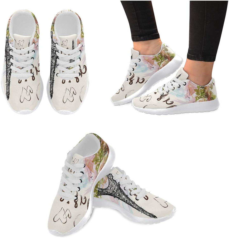 InterestPrint Women's Sneakers Music Clef Jogging Work shoes Lightweight Sport Running Flats