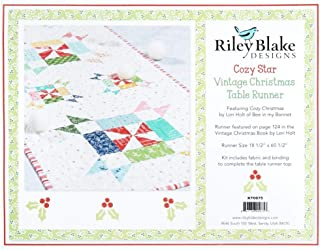 Riley Blake Designs Cozy Vintage Christmas Table Runner Quilt Kit by Lori Holt Fabric, Multicolor