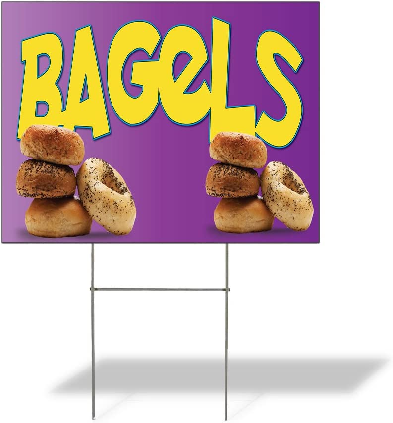 Fastasticdeals Direct Long-awaited stock discount Weatherproof Yard Sign Advertising Outdoor Bagels
