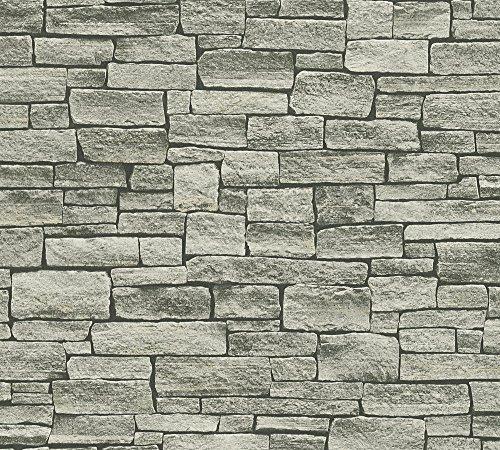 A.S. Création Vliestapete Dekora Natur Tapete in Naturstein Optik 10,05 m x 0,53 m beige grau schwarz Made in Germany 958712 95871-2