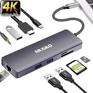 プレミアム USB-Cハブ 9-in-1 Type C ハブ(87WPD出力対応)【4K HDMI ポート/ USB 3.0ポート×3 / SD/microSDカードリーダーポート / LANポート1000Mbps / 3.5mm ヘッドフォンジャック / USB C Power Delivery電源供給ポート 】対応Samsung Galaxy /MacBook Air /MacBook Pro/ChromeBook/Huawei MateBookなど