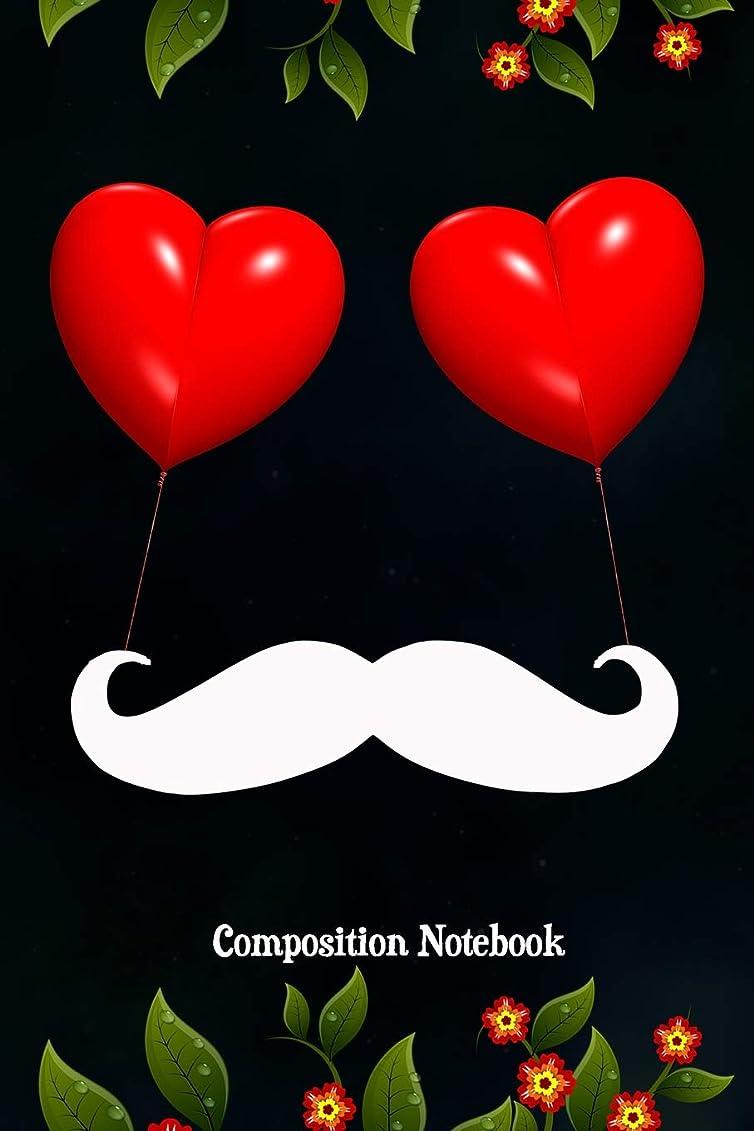 ひどく壮大なスペインComposition Notebook: Composition Notebook, Dinosaur Moustache, Valentines Day Love Journal Gift for Men Fathers to write on