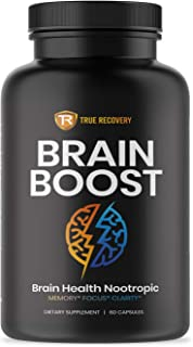 Brain Supplement Nootropic Booster - Energy and Focus Blend for Enhanced Concentration, Memory & Clarity - Mind Enhancing ...