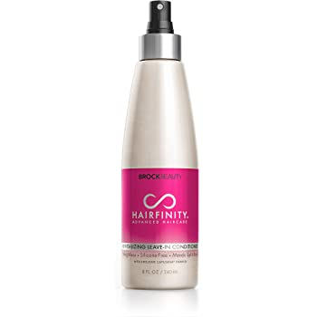 Hairfinity Revitalizing Leave In Conditioner - Biotin Growth Treatment for Dry, Damaged Hair and Scalp - Silicone Free Heat Protection Formula Mends Split Ends with Quinoa and Jojoba Oil 8 oz