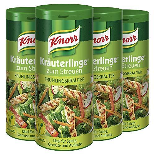 Knorr Kräuterlinge Gewürzmischung für Gemüse (Salate oder Aufläufe Frühlingskräuter vegan) 4 x 60 g