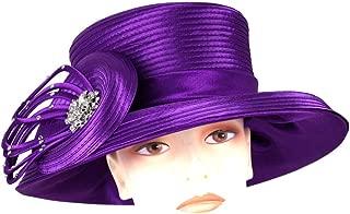 Women's Satin Year Round Church Derby Dress Hats by Ms Divine #HL79