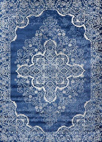 Persian-Rugs 5529 Blue Oriental 5x7 Area Rug Carpet New