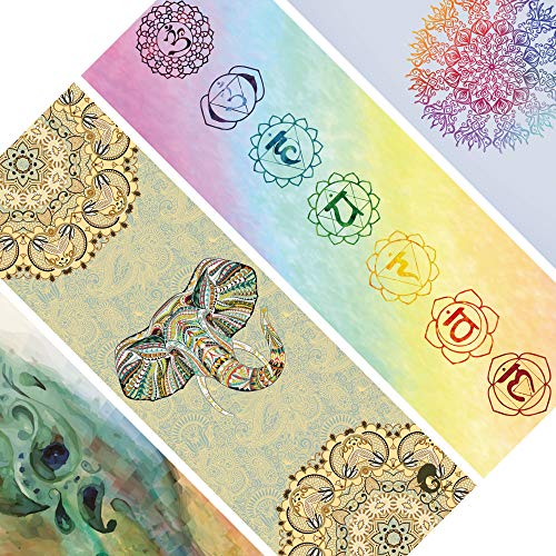 mantrafant Guru PRO Yogamatte | Rutschfester Naturkautschuk | vegan, schadstofffrei & nachhaltig Yoga | Naturmaterial