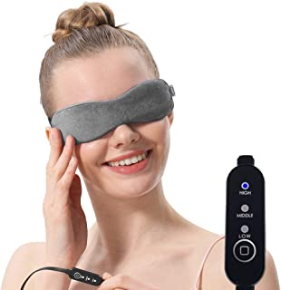 Moist Heated Eye Mask For Stye treatment, Blepharitis treatment, Warm Therapy to Unclog glands, Relieve Dry Eye Syndrome, Stye, MGD and Blepharitis (Gray)