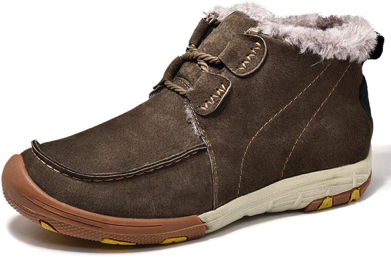 LIJUN herr herr herr Snow stövlar läder gående Waterwarse High Top Oxfords (Storlek  38 -43)  mode varumärken