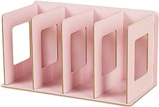 Organizador de madera para CD y DVD Fokom, Rosa, 30.5 x 15 x 17cm