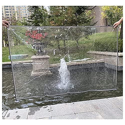 Lonas claras Lona transparente impermeable, cortinas laterales de lámina de plástico de 420 gsem de 420 gsm pesado con ojales de aluminio que cubren el techo, patio, muebles de exterior, 19 tamaños Lo