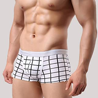 LUKEEXIN Men's Underwear Boxer Shorts, Modal Printed Breathable Low Waist Men's Boxer Briefs