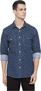Nick&Jess Mens Printed Slim Fit Casual Shirt