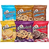Includes 30 Packs of Your favorite Grandma's Brand cookies 8 mini vanilla sandwich crèmes, 4 mini chocolate chip cookies, 6 big chocolate chip cookies, 4 big peanut butter cookies, 6 big chocolate brownie cookies, and 2 big oatmeal raisin cookies Gre...