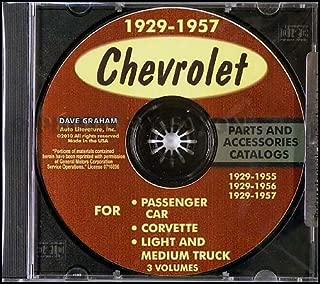 1953 1954 1955 1956 1957 CHEVROLET CORVETTE PARTS ACCESSORIES CATALOG CHEVY VETTE