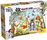 Lisciani Puzzle Maxi Floor para niños de 24 piezas 2 en 1, Doble Cara con reverso para colorear - Disney Winnie el Oso 86665