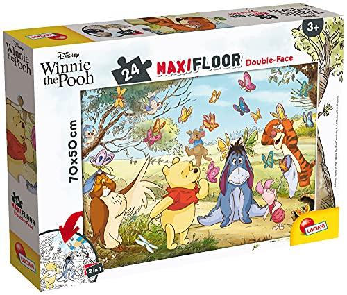 Lisciani Giochi- Disney Puzzle DF Maxi Floor 24 Winnie The Pooh Bambini, Multicolore, 86665