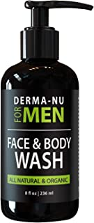 Facial Cleanser and Body Wash for Men - Daily Moisturizing Face Cleanse - Refresh and Energize Your Skin - Certified Organic and Natural Ingredients - 8oz