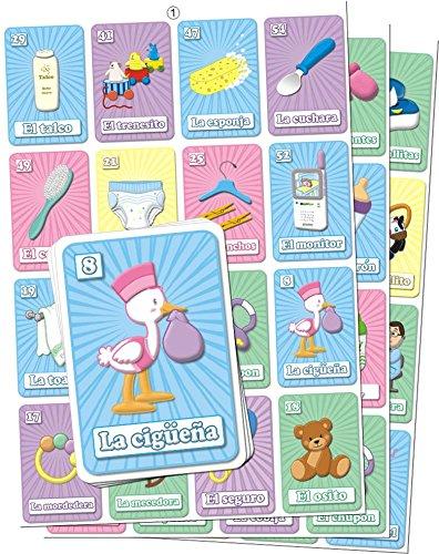 MoreFiesta Baby Shower Loteria Bingo in Spanish, for 20 Players