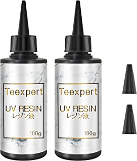 رزین UV Teexpert ، رزین اپوکسی ضد اشعه ماوراء بنفش شفاف 2PCS برای جواهرات DIY ، تزئینات صنایع دستی ، جواهرات دست ساز ، ریخته گری و روکش ، درمان با لامپ UV یا خورشیدی ، غیر سمی /نوع سخت /(ارتقا)