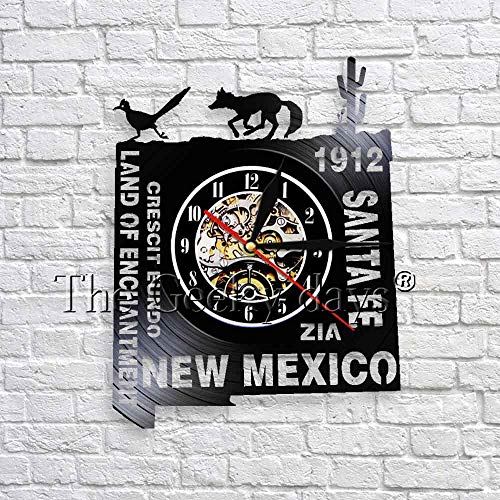 wtnhz LED-Mexican wall clock modern design vinyl record clock 3D art wall decoration travel gift