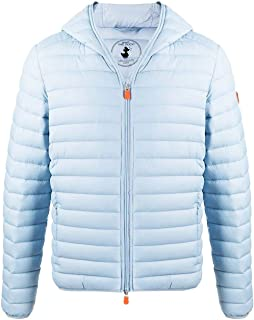 Save The Duck Luxury Fashion Mens D3065MGIGAX00012 Light Blue Down Jacket | Spring Summer 20