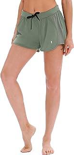 Geilisungren Yoga Shorts Damen Mode G/änsebl/ümchen Streifen Sportshorts Leggins Hohe Taille Laufen Fitness Yoga Kurze Hosen Radlerhose Jogginghose Eng Hotpants