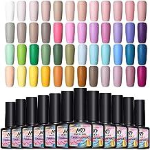 NEE JOLIE Gel Nail Polish Set 48 Colors Spring Summer Colors UV Gel Polish Soak Off Nail Gel Manicure Nail Polish Kit