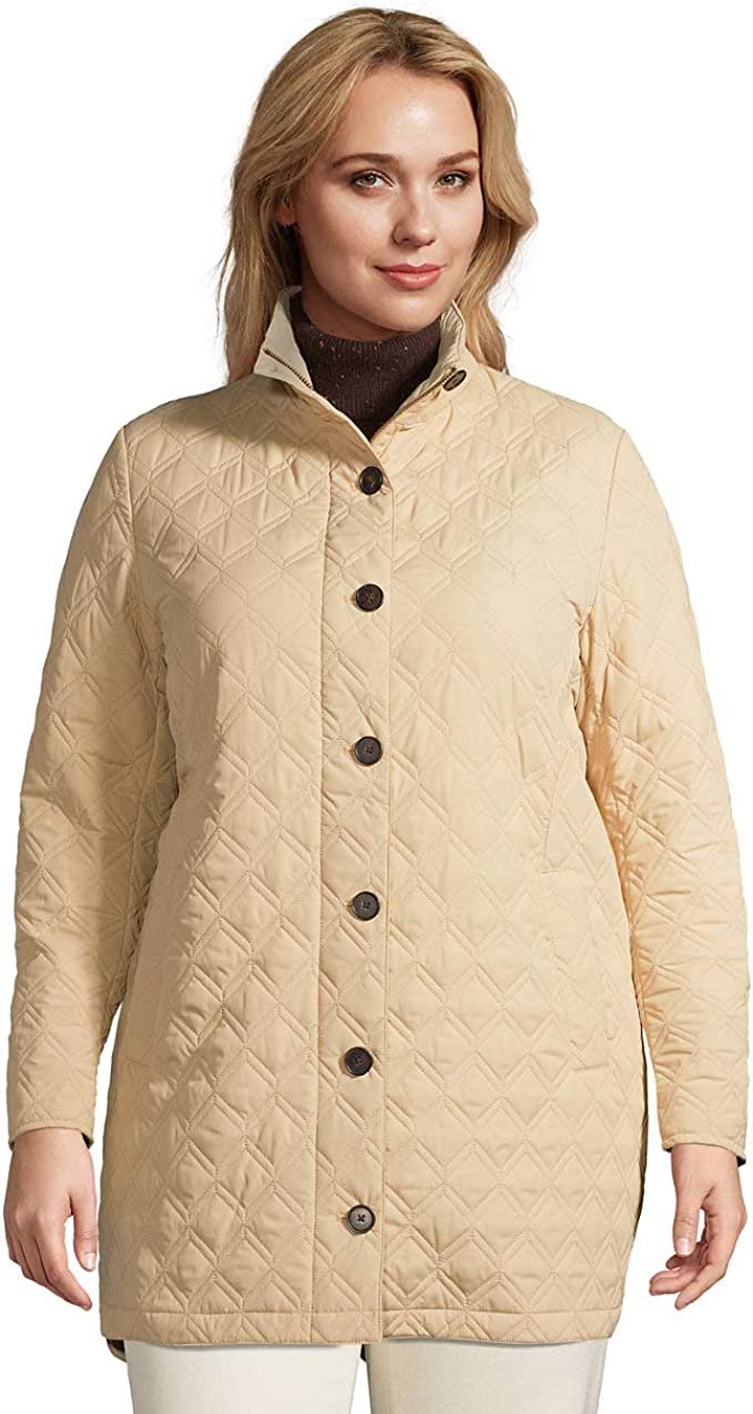 Lands' End Women's Insulated Quilted Barn Coat