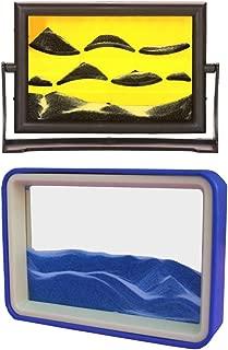 MonkeyJack 2Pieces Flowing Sand Drawing Landscape Liquid Timer Sensory Motion Visual Crafts
