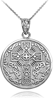 925 Sterling Silver Reversible Irish Blessing Pendant...