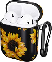 GOLINK Case for Airpods,Floral Series Protective Shockproof TPU Gel Case with Printing for Airpods 1st/2nd Charging Case(Sunflower)
