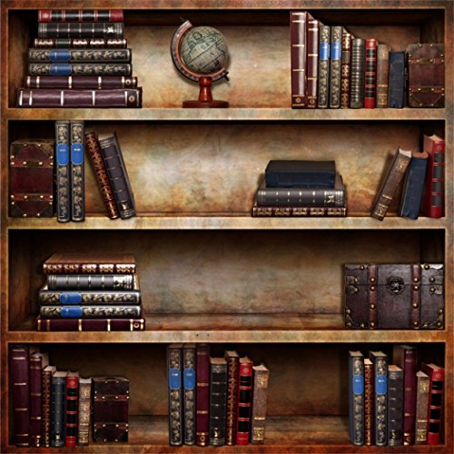 YongFoto 2x2m Vinilo Fondos Fotograficos Estante de Libros Antiguos y raros Fondos para Fotografia Fiesta Niños Boby Boda Adulto Retrato Personal Estudio Fotográfico Accesorios