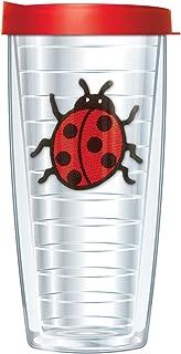 Ladybug Emblem 16 Oz Traveler Tumbler Mug with Lid