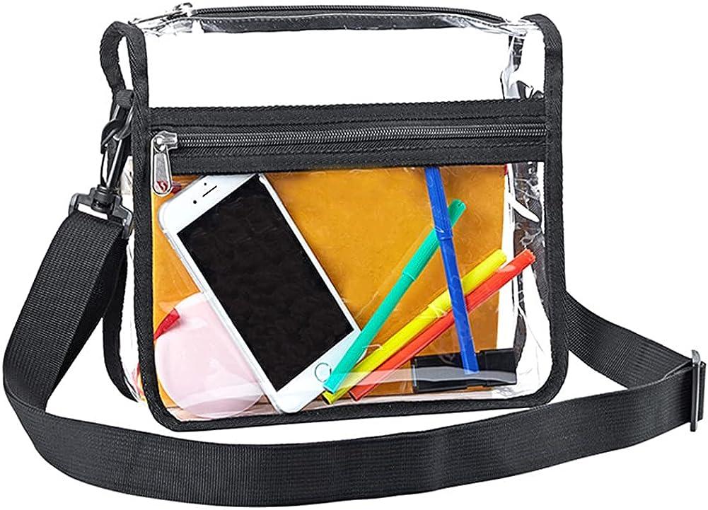 Transparent Ranking TOP18 Manufacturer regenerated product PVC Crossbody Bag Zipper Adjustable Unisex Clea