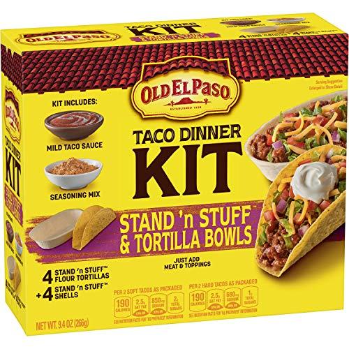Old El Paso Stand 'n Stuff Hard & Soft Taco Dinner Kit, 9.4 oz Box