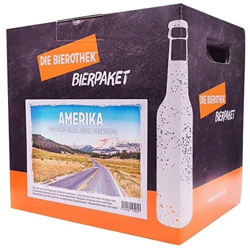 Bierothek® Bierpaket Amerika (12 Flaschen Bier | außergewöhnliches Geschenk)