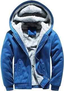 Christmas Mens Back Owl Hoodie Winter Warm Thick Fleece Zipper Sweater Jacket Outwear Open Front Coat Tops Blouse